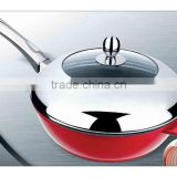 Good quantity aluminium alloy deep frying pan with lid / aluminium pot / cookware sets