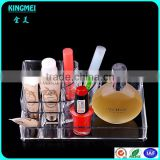 Thanksgiving day best gift fashion acrylic makeup organizer nail polish display cosmetic rack plastic storage box