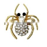 new design metal spider crystal brooch korean style rhinestone spider brooches for women brooch jewelry