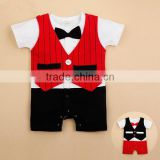 baby boy clothing gentlemen romper baby boutique cloth fall outfit