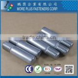 Made in Taiwan 316 stainless steel Pin with Thread with Flat End Point Special Pin