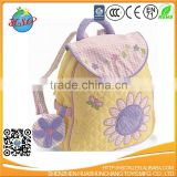 cozy cute sunflower canvas backpack schoool bag for kids
