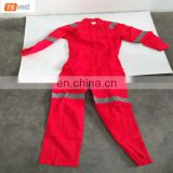 Polyester And Cotton Cheap Reflective Flame retardant Coverall