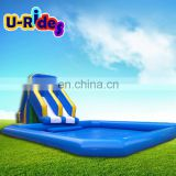 Giant Water Slide Play Equipment Inflatable Obstacle Course For Kids Adults In Amusement Park Dolphin Water Park