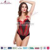 factory wholesale sexy babydoll underwear women black red lace sexy adult bodysuit