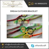 Fashionable Trendy Neon Dream Catcher Bracelet