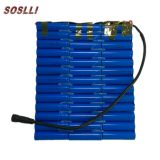 18650 li ion battery 12v series lithium ion battery pack for solar LED street lamp