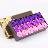 Hot Sell Gift Set Soap Romantic Flower Rose Soap  Hotel Soap Petal Bath Soap Toilet Soap