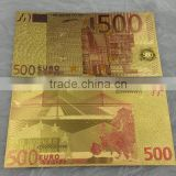 handmade craft 24k EURO gold foil banknote for collection