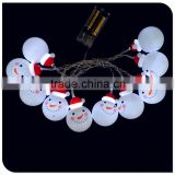 10LED christmas snowman ball lights new design led cartoon lights factory wholesale