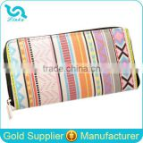 New Arrival Hot Sale Lady Female Women Bohemian Vintage Retro Printing Canvas Wallet                                                                         Quality Choice