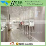 retail shop metal mirrored finish single door metal cabinet fittings