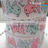 Sweet fish printed grosgrain gift ribbon