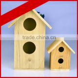 China supplier crafts hang Christmas wooden bird house wholesale modern design wooden bird house high quality