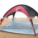 Pop up beach playing tent with promotions
