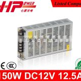 Switch mode power supply Guangzhou factory single output constant voltage ac dc 150W 12V switch power supply