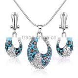 Leopard design gold jewellery crystal enamel heavy kundan jewelry set