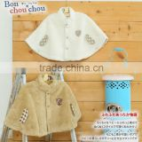 Japanese wholesale high quality product babys jackets mant cape kids clothes winter toddler clothing child dress infant garment