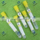 hospital test non vacuum blood collection tube with yellow top (Gel&Clot Activator)