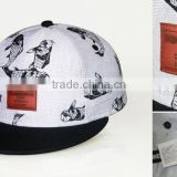 sublimated caps ,full sublimated Custom designs Cotton twill Baseball Snap back Caps , fashion sports cap