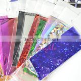 Good quality nail art decoration paper bag package mixed color nail foil sticker