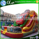 Customize car toys inflatable big size water slides,water park slides for sale                                                                                                         Supplier's Choice