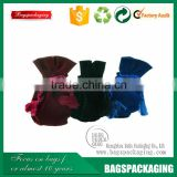 Drawstring rope small vavious color indian velvet bag