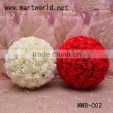 wholesale artificial rose flower ball for wedding decoration,handmade articificial flower ball for home decoration( MWB-002)                                                                         Quality Choice