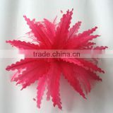 Wholesale and cheap feather flower trimming on hat millinery