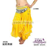 yellow belly dance harem pants,chiffon costume for belly dancing,belly dance wear,belly dance clothes