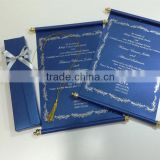 Royal Blue Scroll Wedding Invitation Card with box                                                                         Quality Choice
