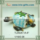 Hot sale new resin turtle decoration with palm tree designs                                                                         Quality Choice