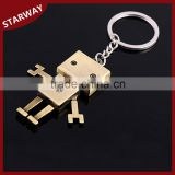 Hot selling cool promotional metal Robot Keychain/