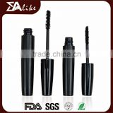 Cosmetics packaging cute plastic clear black color mini luxury mascara tube