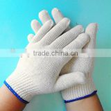 bleached white 100% safety working cotton gloves                                                                         Quality Choice