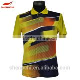 Shenochi made in China dri fit sublimation polyester fabric wholesale polo couple t-shirt