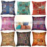 Multi Patchwork Sofa Cushion Cover Handmade Embroidery Work Cushion Cover