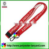 China Wholesale 2016 Woven lanyard/Red Neck Strap/ Lanyard Keychain New arrival lanyards
