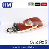 top selling beautiful gift logo embossing leather usb flash drive
