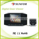 3.5 inch high definition video recording peephole door camera , wireless front door peephole camera
