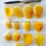 Natural Baltic Amber pendant, Amber caboshon yellow color size 10-15 grams