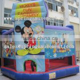 Latest hot sale Mickey Mouse theme printing inflatable bouncer, inflatable jumping castle, inflatable bouncy SP-PP051                                                                                         Most Popular