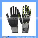 Heavy Duty Oilfield Impact Gloves Cut Resistant Shockproof Gloves Anti Cut Nitrile Gloves