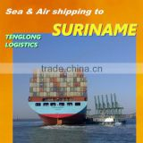 Air Sea Freight Forwarder Export Import Shipping to Paramaribo of Suriname from Changsha Shanghai Shenzhen