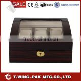 6 Watches Storage High Gloss Colorful Velvet Accept Customized Wooden MDF Watch Boxes Sales for Oversea