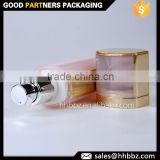 50ml skin care product containers airless pump bottle frosted with print