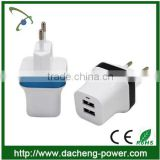 Perfect design dual usb travel charger 5V 2.1A universal travel charger with EU US UK plug                                                                         Quality Choice