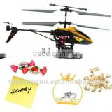 Small Electric RC Helicopter Toy With Colorfur Lights, With Hanging Basket