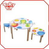 Safety wooden children table chair, children study table, art juvenile wooden children table and chair