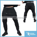 leisure clothing tapered jogger trousers fitted mens denim jogger pants